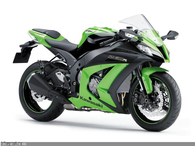 Новые цвета спортбайка Kawasaki Ninja ZX-10R 2012