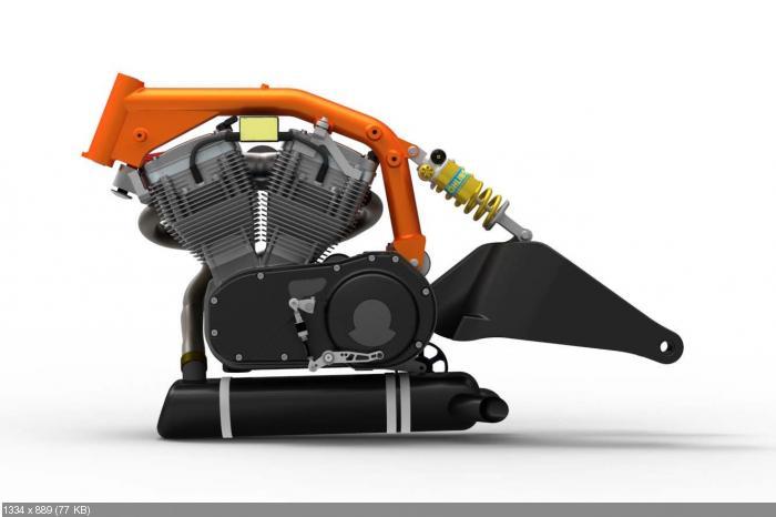 Мотоцикл Bottpower BOTT XR-1 - развитие прототипа