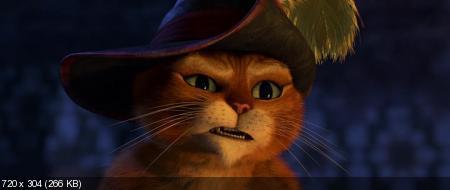 Кот в сапогах / Puss in Boots (2011/HDRip/1400Mb/700Mb)