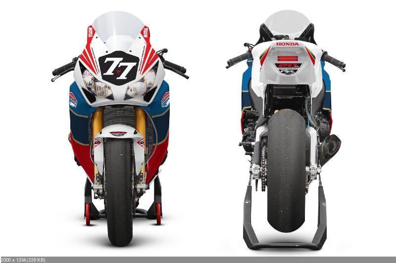 Расцветка мотоцикла Honda CBR1000RR команды Honda TT Legends