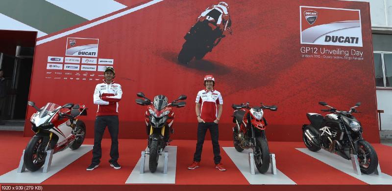 Гоночный мотоцикл Ducati Desmosedici GP12 2012 (фото, видео)